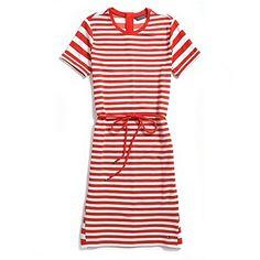 parisian red/white stripe dress