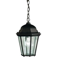 Kichler 1 Light Outdoor Pendant from the Madison Collection - Black