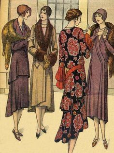 Robes et manteaux - looks to me like ca 1929 or 1930.