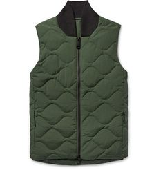 SATURDAYS NYC Koji Quilted Cotton-Blend Down Gilet. #saturdaysnyc #cloth #coats and jackets