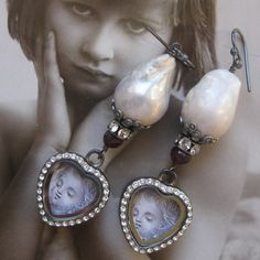❥ big pearls, little girl
