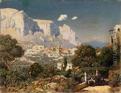 Blick Auf Capri Oil Painting - Edmund Berninger