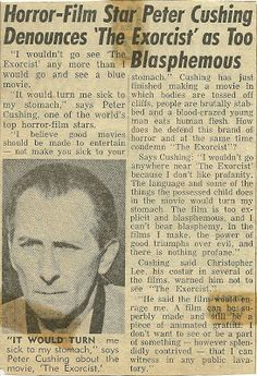 Peter Cushing and the Exorcist