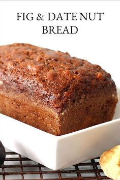 Fig amp Date Nut Bread: Brimming with fruit and nuts, Fig & Date Nut Bread packs a lot of nutrition and flavor into every bite. Great for breakfast or afternoon snack. sandwich Fig amp Date Nut Bread Nut Bread Recipe, Quick Bread Recipes, Bread Machine Recipes, Sweet Recipes, Baking Recipes, Cake Recipes, Dessert Recipes, Date Nut Loaf Recipe, Breakfast Bread Recipes
