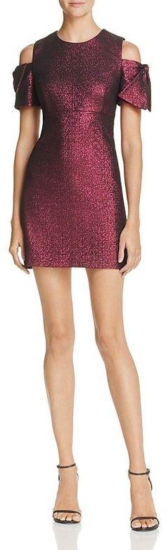 Milly Mod Cold-Shoulder Dress
