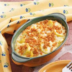 Summer Squash Casserole. What a great twist on summer squash!! This was so good! Made it as a side with the flank steak we had tonight. This was creamy, flavorful and easy :)  7-9-12