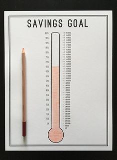 A savings thermometer is a great and simple way to track your progress towards any type of savings goal! We have used these to save for our emergency fund and a house down payment and we want to share it with you! Bullet Journal Paper, Bullet Journal Ideas, Creating A Bullet Journal, Bullet Journal Lettering Ideas, Bullet Journal Notebook, Bullet Journal Aesthetic, Bullet Journal School, Book Journal, Bullet Journals