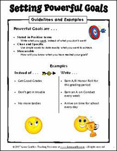 Classroom Goal Setting ebook by Laura Candler $ (Great info on setting specific, reachable goals)