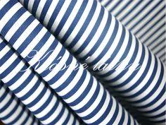 Proužek  modrý 100% bavlna 0,5cm