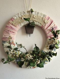 An Almond Wreath for Spring - DIY My Spring - theboondocksblog.com