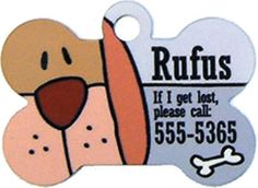 Custom bone-shaped dog tags with your choice of artwork or designs - $3.99