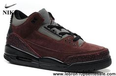 the latest b4a9e 8b09f Wholesale Discount Suede Brown Black Cement Air Jordan 3(III) Fashion Shoes  Store Cheap