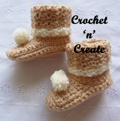 Free baby crochet pattern for woodland boots. #crochet