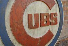 This piece has a Diameter of 31 inches and comes equipped with a hanger on the back ready to be easily hung. Its two layers, as the 3D look is my specialty. Its hand cut, hand painted, and distressed.  Because these pieces are made to order, each piece is totally unique. Your item may differ slightly from photos.  DUE TO THE CUBS WINNING THE WORLD SERIES AFTER 108 YEARS, PLEASE EXPECT EXTENDED SHIPPING TIMES. GO CUBBIES