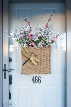Home Decorating DIY Projects  :     five easy tips to get your front porch spring ready wall basket dragonfly    -Read More –