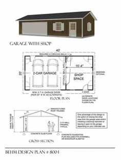 Economy 2 car workshop garage plan e816 2 34 x 24 by behm design 2 car garage with shop plan x by behm design ready to use 2 car garage plan in all size with lots of style pdf garage plan and blueprint malvernweather Choice Image