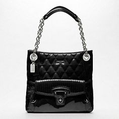 POPPY LIQUID GLOSS SLIM TOTE - TOTES - HANDBAGS - The Classic Coach Event