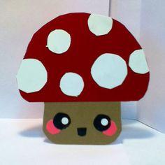 Handmade Kawaii Mushroom Card  Cardstock by justcreativecards, $3.50
