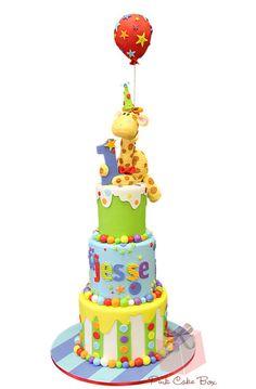 1st Birthday Giraffe Cake ~ Pink Cake Box, 18 East Main St #101  Denville, NJ 07834  973-998-4445