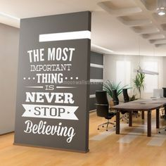 inspirational wall art for office. Interesting Office Neverstopbelievingwallsticker Inspirational Wall DecalsWall Art Quotes Office  Throughout For I