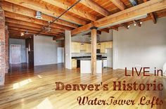 LIVE in this historic Denver loft! http://www.liveurbandenver.com/blog/live-in-one-of-denvers-true-historic-lofts-in-this-watertower-stunner.html #liveurbandenver