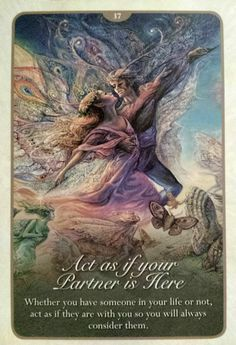 """37 Act as if your Partner is Here"" Oracle Cards Whispers of Love par Josephine Wall and Angela Hartfield"