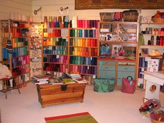 The weaving studio at JST is often described as a weaver's paradise. We humbly agree. So much of our time is spent in the studio that we have worked very hard to make it a place that is not just our business, but also a place to become inspired. Part sanctuary and part hive of activity,