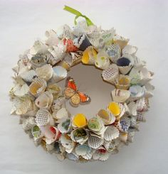 Paper wreath. It's beautiful!