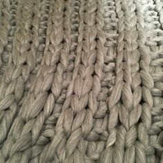 Giant knitting blankets and throws lovingly handmade with cloud soft luxurious merino unspun chunky wool roving Knitted Blankets, Merino Wool Blanket, Giant Knitting, Extreme Knitting, Chunky Wool, Beautiful Hands, Grey, Natural, Silver