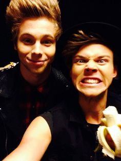 Ashton Irwin and Luke Hemming. Members of 5 Seconds Of Summer along with Calum Hood and Michael Clifford