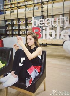 Jessica Jung shared cute pictures from the set of 'Beauty Bible' Yoona, Snsd, Jessica Jung Fashion, Ex Girl, Beauty Bible, Jessica & Krystal, Golden Star, Instyle Magazine, Ice Princess