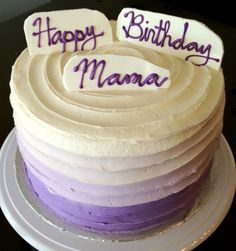 Ube Cake with Coconut Vanilla Frosting and Macapuno Filling #ombre