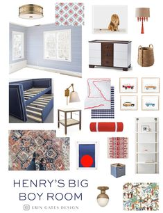 Elements of Style Blog | Pondering Henry's Big Boy Room | http://www.elementsofstyleblog.com