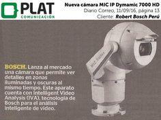 Robert Bosch: Nueva cámara MIC IP Dynamic 7000 HD en el diario Correo de Perú (11/09/16)