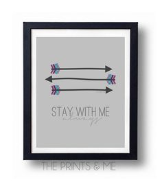 Stay With Me Always Hunger Games Inspired by ThePrintsandMeShop Katniss and Peeta