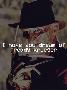 freddy krueger and quote image