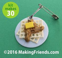 """Girl Scout Swaps Craft Kit """"Belgium Waffles with Fork"""""""