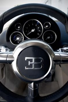 Stering wheel of Bugatti Tricycle, Volkswagen, Fancy Cars, Bugatti Veyron, Sexy Cars, Car Manufacturers, Amazing Cars, Sport Cars, Exotic Cars
