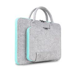 333f1da83d2 Fashion Wool Felt Laptop Bag For Mac 11 13 15 17 Mouse Bags Briefcase for  Macbook