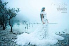 The Immaculate Dream Dewi Editorial is Ethereal #winter #fashion trendhunter.com