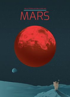 mars solar system planet cosmos space See amazing artworks of Displate artists printed on metal. Easy mounting, no power tools needed. Solar System Poster, Mars Space, Space Space, Earth Poster, Vintage Space, Space Travel, Time Travel, Science Fiction Art, Retro Futurism