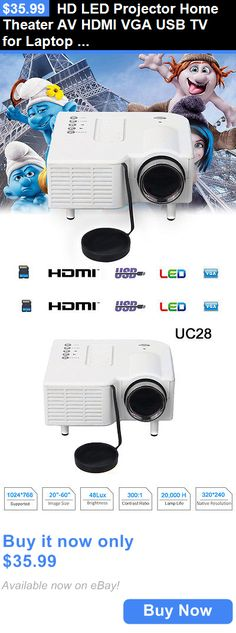Home Audio: Hd Led Projector Home Theater Av Hdmi Vga Usb Tv For Laptop Pc Smart Phone Us BUY IT NOW ONLY: $35.99