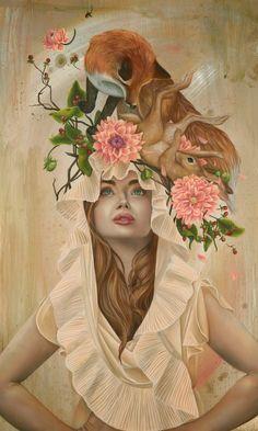 Material of Dreams by Kari-Lise Alexander Art And Illustration, Gothic Fantasy Art, Muse Art, Surrealism Painting, Tumblr, Musa, Surreal Art, American Artists, Female Art