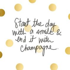 YES! #smile & #champagne
