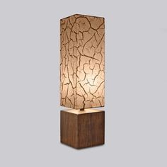 Block Lamp - Cracked Mud