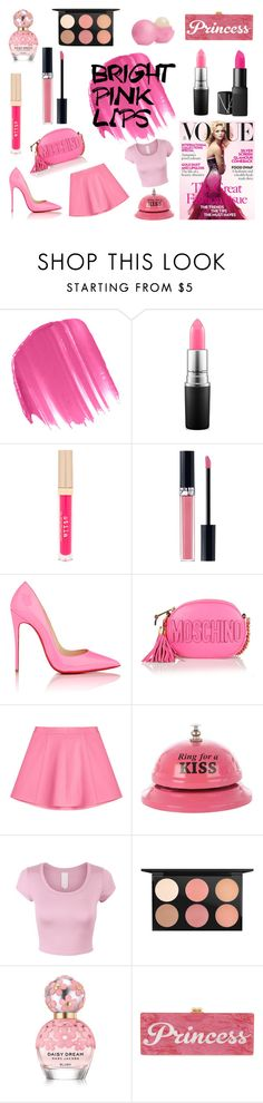 """""""How to match - Bright Pink Lips"""" by emeliejanze1 ❤ liked on Polyvore featuring ljepota, Urban Decay, MAC Cosmetics, Stila, Christian Dior, Christian Louboutin, Moschino, RED Valentino, Marc Jacobs i Edie Parker"""