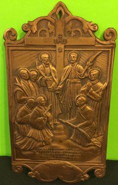 Vintage Metal Novena Prayer Plaque North American Martyrs | eBay