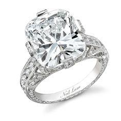 Cushion-cut diamond engagement ring by Neil Lane