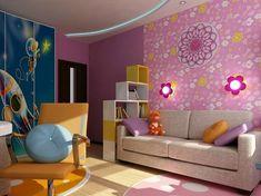 Kinderzimmer komplett gestalten – wenn Junge und Mädchen einen Raum teilen müssen - kinderzimmer komplett wandleuchten blumen babyroom kidsroom