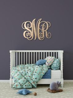 Search CustomMade for the perfect customized sign, handcrafted by professional craftsmens and made to last. Discover individualized indications that i. Monogram Wall Letters, Wooden Monogram, Nursery Letters, Letter Wall, Nursery Wall Decor, Nursery Room, Baby Room, Custom Wooden Signs, Retro